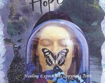 VISIONS OF HOPE altered art therapy recovery survivor inspirationa faith healing collage wings butterfly AcEO AtC PRiNT