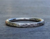 Recycled 950 Palladium Wedding Band / Ring - Matte / Hammered, 2mm, Simple, Modern, Stackable, Made To Order