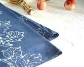 denim blue batik tablecloth