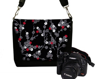 SALE Slr Camera Bag Dslr Camera Bag Purse Womens Camera Bag Case DELUXE Tiny Cherry Blossom RTS