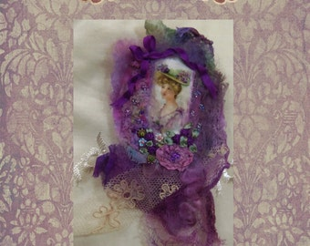 Felted and embellished  Brooch class PDF