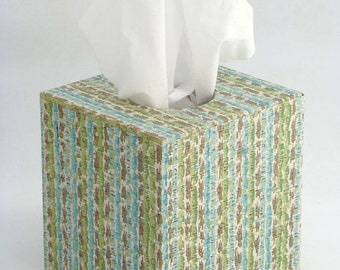 Mod Stripe 1960's Vintage Wallpaper Tissue Box Cover