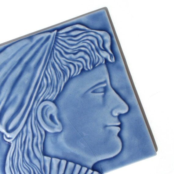 Victorian Style Female Portrait Tile for home decor - fireplace facade