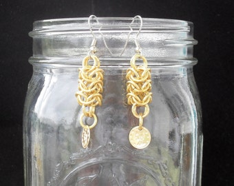 Astra - Gold Roundmaille Earrings with Coins