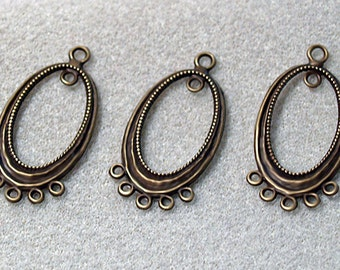 Focal Pewter Oval- pendant- jewelry findings
