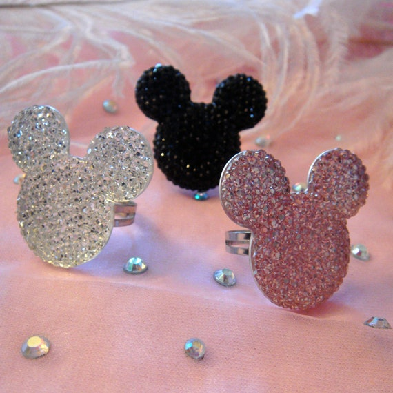 Minnie Ring- Black, Silver or Pink