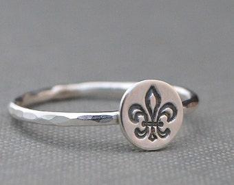 Fleur de Lis Ring , Fleur de Lis Jewelry , Fleur de Lys , Sterling Silver Ring