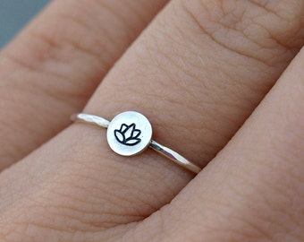 Silver Lotus Ring. Lotus Jewelry Sterling Silver