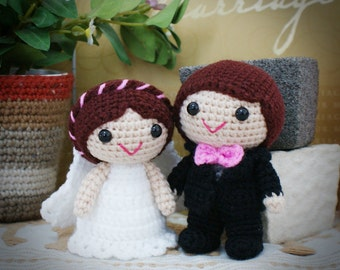 Joshua & Jenni Wedding Dolls Pattern