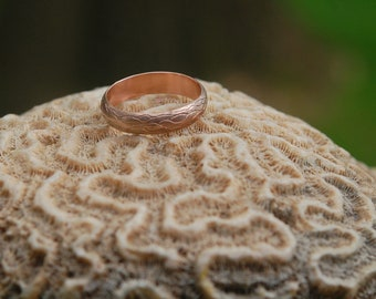 The Natural Tree Vine Rose Gold Wedding  Band