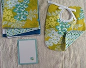 Aqua bouquet gift set