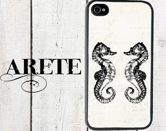iphone 6 case Nautical iPhone 4 Case, fits iPhone 4 and 4s, Seahorse Duo - iPhone 5 Case - Galaxy s3 s4 s5