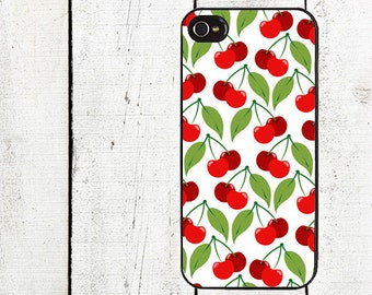 Retro Cherry Cell Phone Case - Pattern iPhone 4 Case - Cell Phone Case - iPhone 5 Case