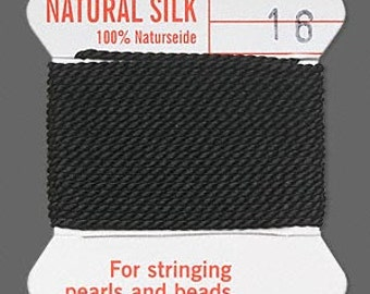 Black Silk Beading Thread - Size No. 16 - B-6640
