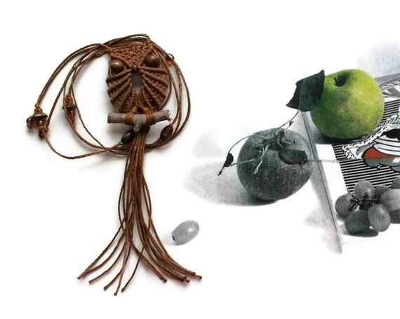 Sienna Owl Pendant Necklace, Macrame Owl Necklace, Owl Jewelry, Women Necklace, Long Necklace, Adjustable Necklace, Textile Jewelry, macraMe