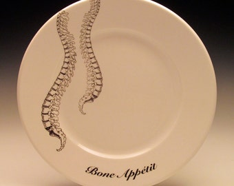 Spinal Column Bone Appetit dessert plate No. 2 NEW