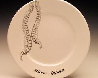 Spinal Column Bone Appetit dessert plate No. 1 NEW