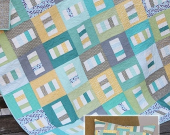 SALE - Boardwalk quilt and pillow pattern from Cluck Cluck Sew - crib, throw, twin and queen sizes included