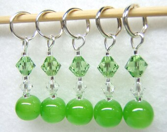 Island Treasure Stitch Marker Set for Knitting or Crochet (Customizable with Rings or Hooks to be Removable)