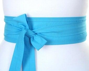 Turquoise blue Obi kimono belt sash ... kawaii Japanese style