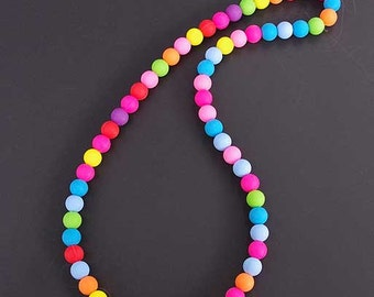 Rainbow Silicone bead necklace, water proof, rubber, food grade, baby, mother