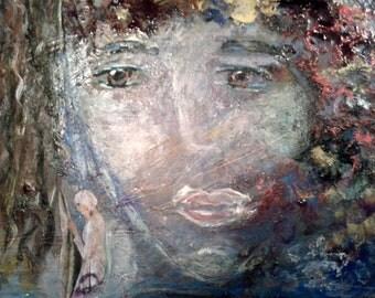 "Original painting, ""Dreams of the Valiant Souls"""