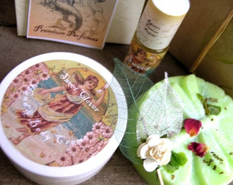 Gift Set Sweet Clover 3 Items - perfume, lotion, soap