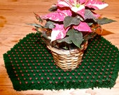 Four Large Hand Woven Placemats Custom Order for Linda