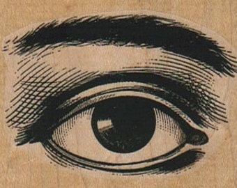Rubber stamp  Steampunk  supplies eye and brow body parts  unMounted anatomy aufkleber   4487