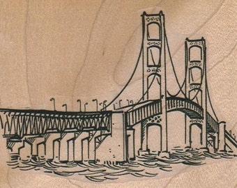 Rubber stamp Golden Gate Bridge wood Mounted  scrapbooking supplies number  7935