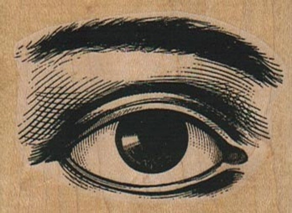 Rubber stamp  Steampunk  supplies eye and brow body parts      cling, wood mounted or unMounted   4487