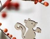3 Cute Critters - in brown transparent plexiglas / perspex plastic