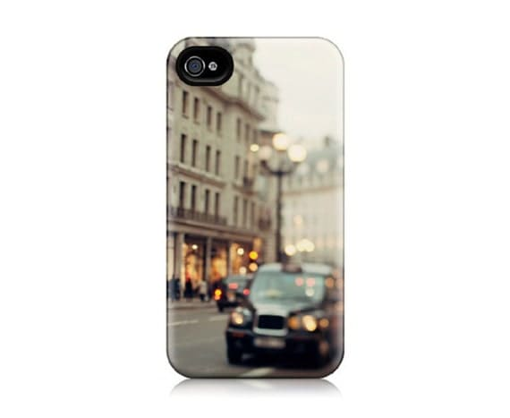 iPhone 4 Case, iPhone 4S Case - She Called Herself London - Travel Photography, London Photograph, Regent Street, Taxi, Cars