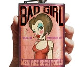 Bad Girl - stainless steel flask - 8oz.