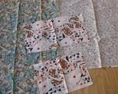 Gambling bundle of fabrics with 4 fabrics approx 3 yards total