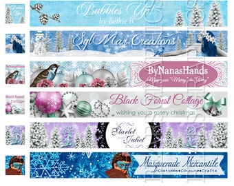 Winter Banner, Custom Seasonal Shop Banner, Christmas Banner, Custom Christmas Banner, Snow Shop Banner, Custom Shop Banner Graphic Design