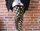 Gold polka dots Tights