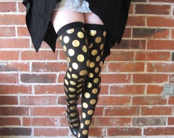 Gold polka dots Tights