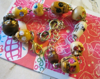 Glitter Skull Eyes Bright Strand Bracelet