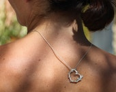 Valentine jewelry, Coral heart pendant, sterling silver valentine necklace, ready to ship, beach wedding, heart jewelry