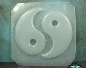 Resin Mold YIN YANG or Ying Yang Handmade Plastic Resin Molds Also works also with soap, candle wax, and clay