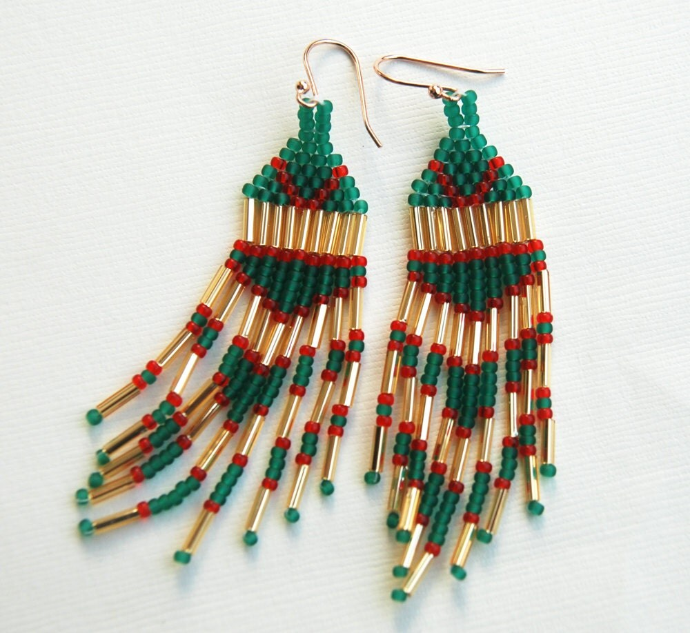 Fringed Earring in Christmas