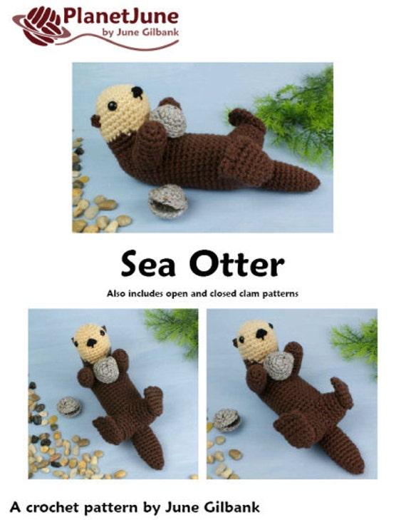 Yoda Amigurumi Pattern Free : PDF Sea Otter amigurumi CROCHET PATTERN
