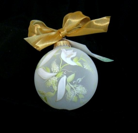 Personalized Hand Painted Peace Dove Glass Ornament - Artist Original