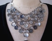Vintage Victorian Button Steampunk Necklace FREE SHIPPING
