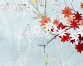 Maintenon Bleu - Fine Art Print of an original illustration - floral - botanical - home decor - wall art