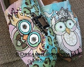 Custom Handpainted Woodland Wedding Owls TOMS Painted Pastels Bride and Groom Special Day Canvas Slip on Flats Crystals and Bling
