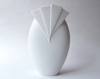 1970s Bisque Porcelain Vase by M. Frey for Kaiser