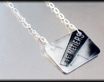 Arts et Métiers (Paris Metro) Necklace - SALE - Only One Ever Made