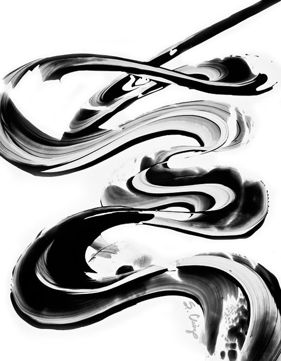 Black and White Painting BW Abstract Art Artwork High Contrast Depth Black Magic 262 Minimalism Minimalist Modern Contemporary Cummings